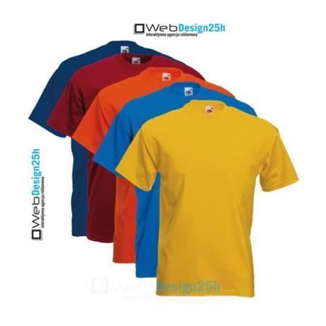 Koszulki kolorowe z nadrukiem 10 sztuk