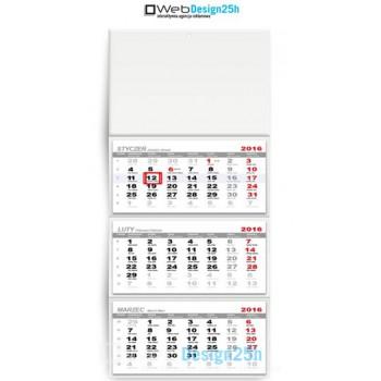 Kalendarze trójdzielne z wypukłą główką - WebDesign25h.pl agencja reklamowa radom