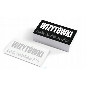 Wizytówki foliowane błyszcząco - WebDesign25h.pl agencja reklamowa radom