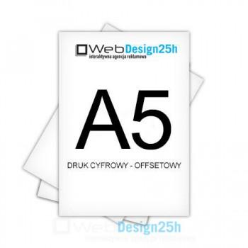Ulotki A5 jednostronne lub dwustronne