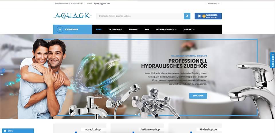 Realizacja www.aquagk.de - webdesign25h