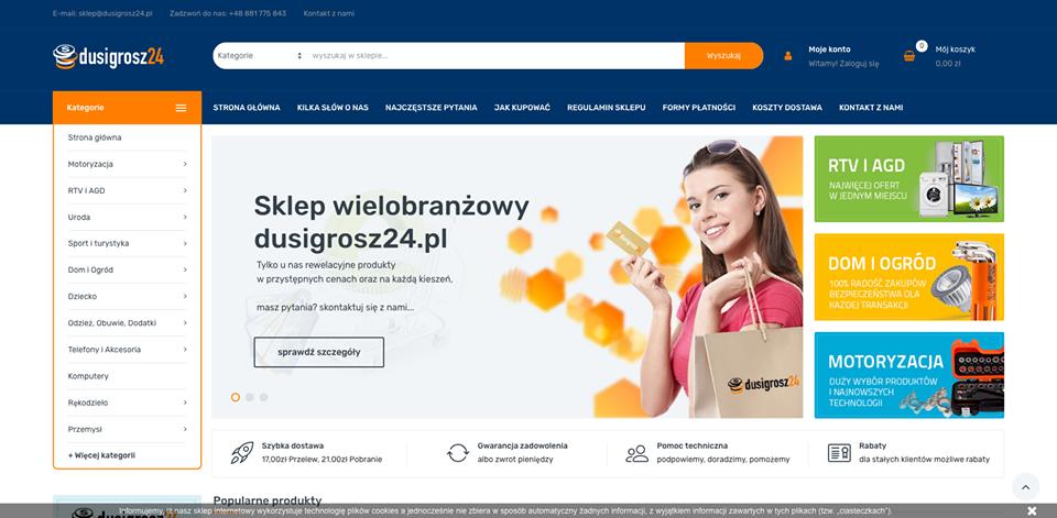 Realizacja www.dusigrosz24.pl - webdesign25h