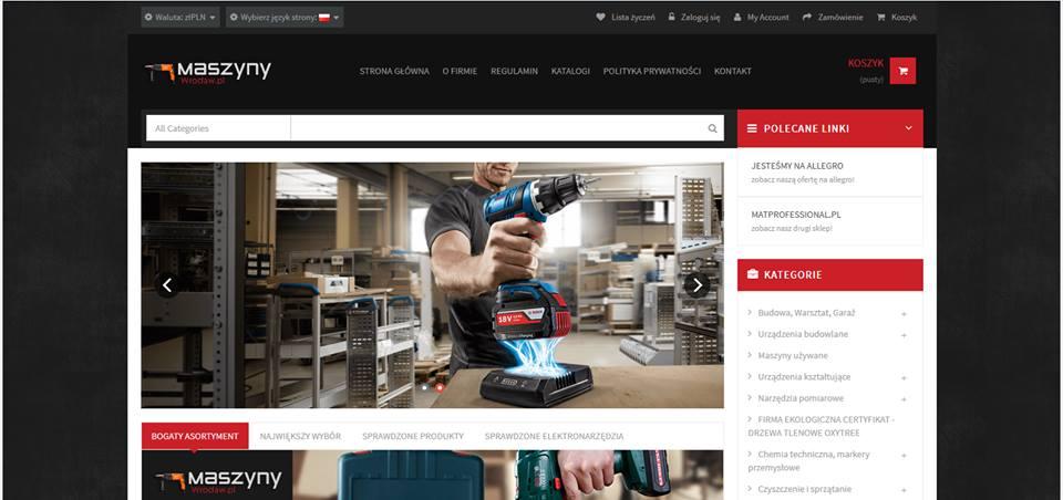 Realizacja www.maszyny.wroclaw.pl - webdesign25h