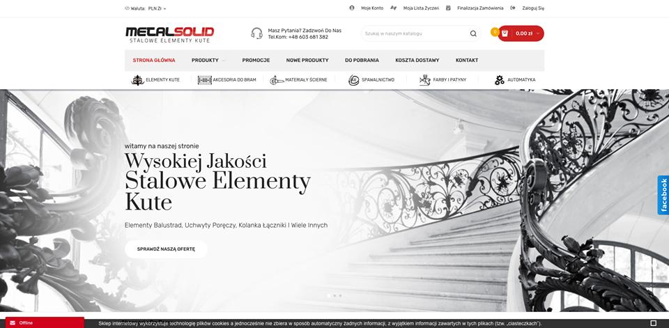 Realizacja www.metalsolid.pl - webdesign25h