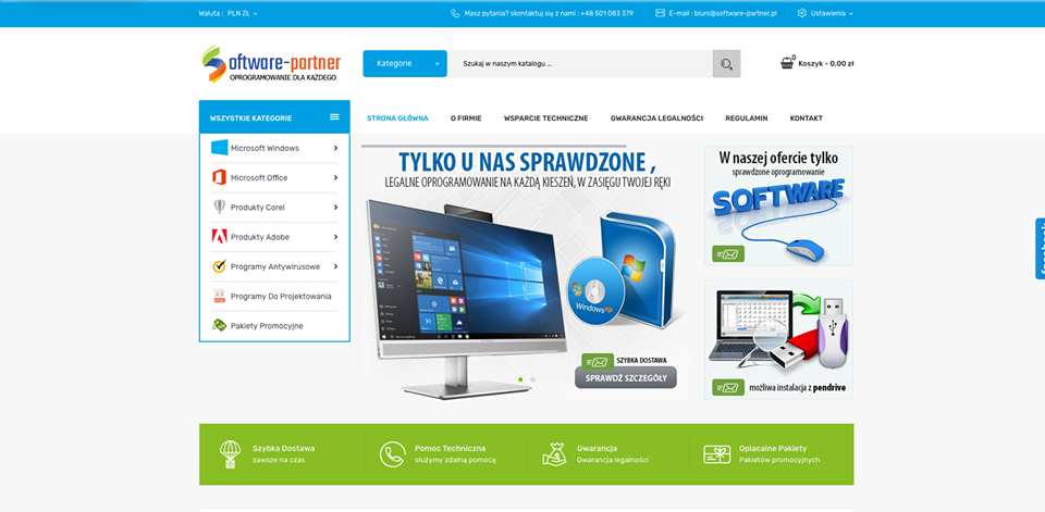 Realizacja www.software-partner.pl - webdesign25h