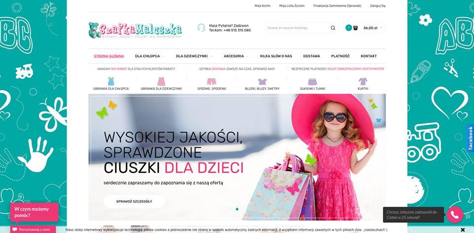 Realizacja www.szafkamaluszka.pl - webdesign25h
