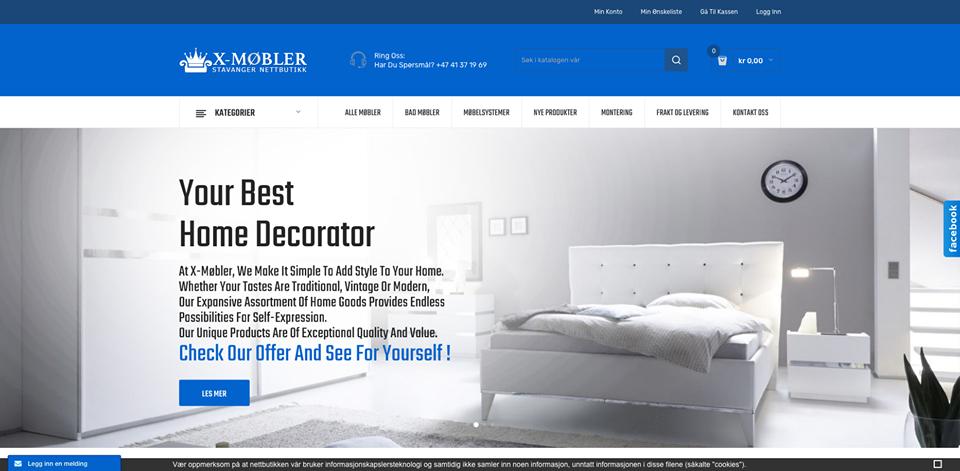 Realizacja www.x-mobler.no - webdesign25h