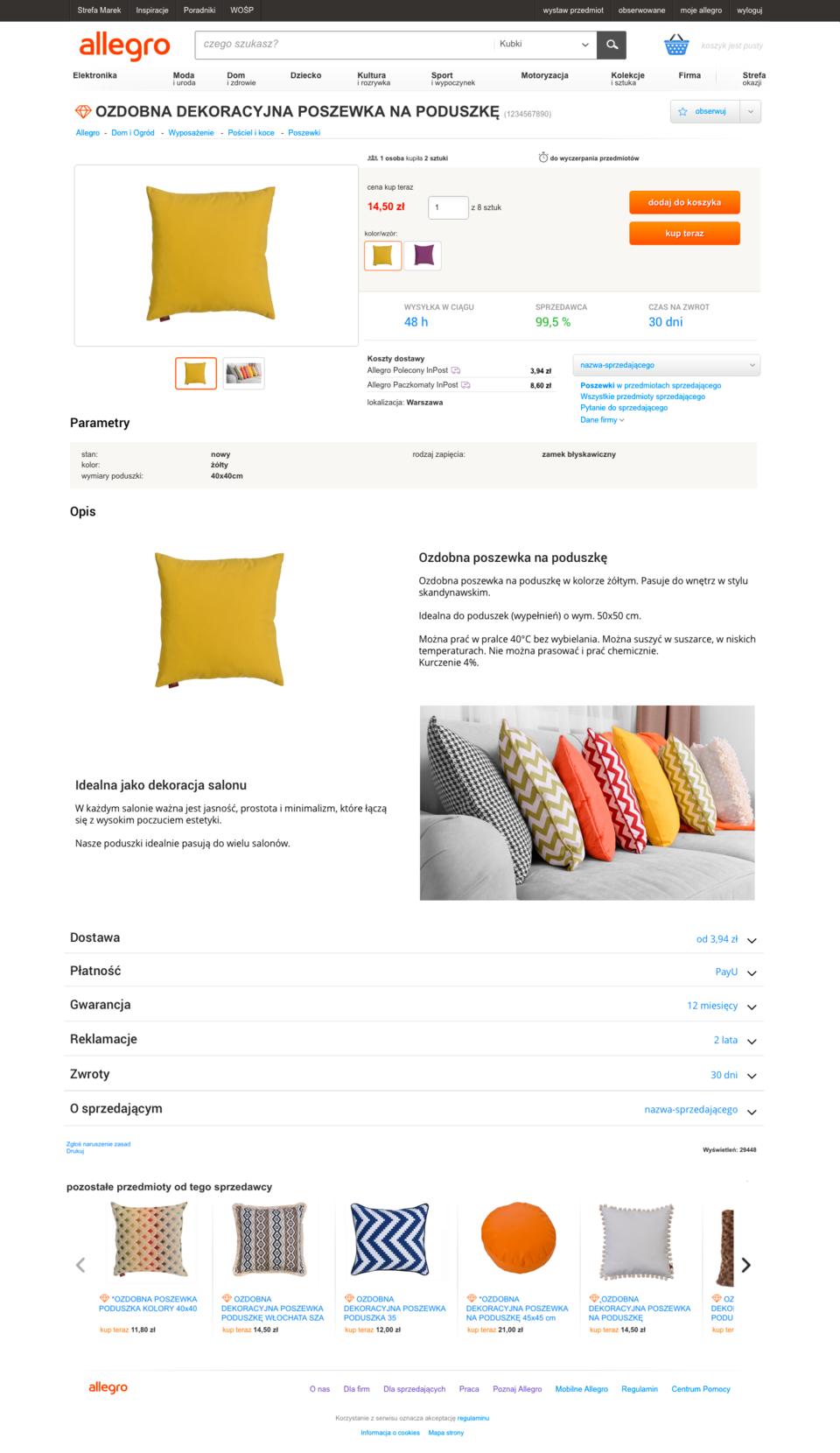 szablon aukcji allegro webdesign25h.pl